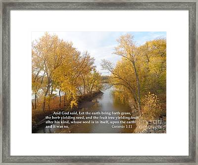 And It Was So Framed Print