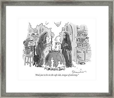 And, Just To Be On The Safe Side, Tongue Framed Print by Danny Shanahan