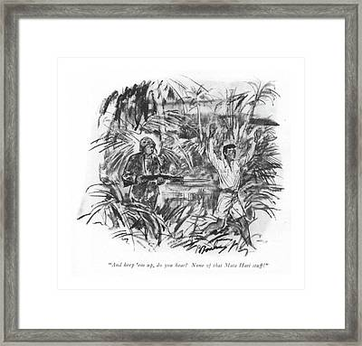 And Keep 'em Framed Print by Perry Barlow