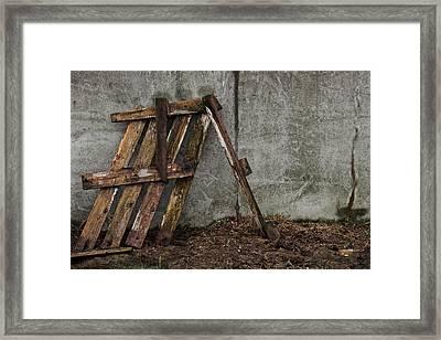 And Life Goes On Framed Print by Odd Jeppesen