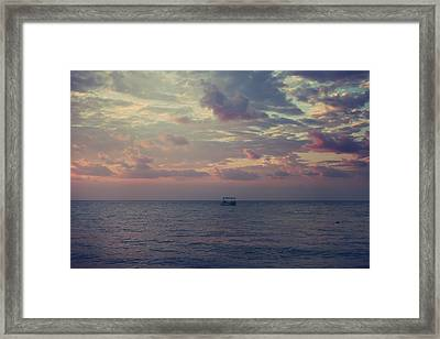 And Now Here I Am Alone Framed Print by Laurie Search