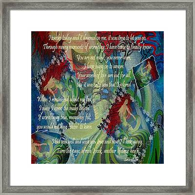 And Now I'll Look Away Framed Print by Tracey Harrington-Simpson