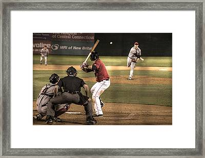 And Now The Pitch Framed Print by William Fields