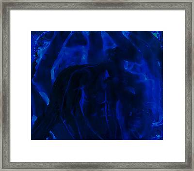 And Out In The Pouring Rain Framed Print