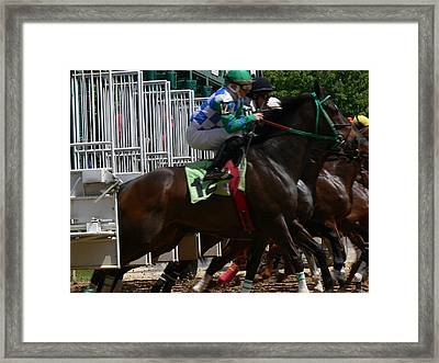 And Running Framed Print
