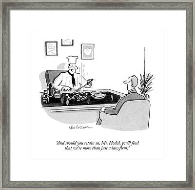 And Should You Retain Framed Print by Leo Cullum