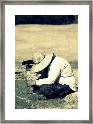 And So Beats The Heart Of A Child Of The Sun Framed Print by Ramon Fernandez