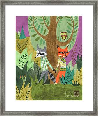 And So They Fell In Love Framed Print