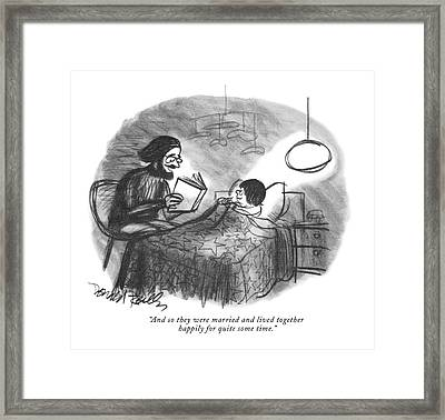 And So They Were Married And Lived Together Framed Print by Donald Reilly