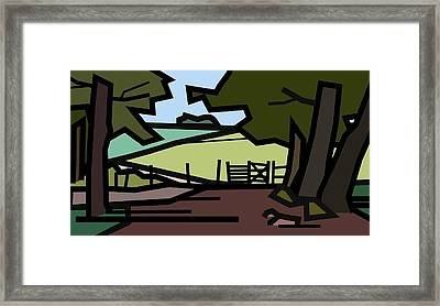 And So Through The Gate. Framed Print by Kenneth North