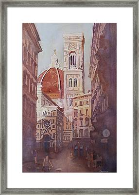 And Suddenly The Duomo Framed Print by Jenny Armitage