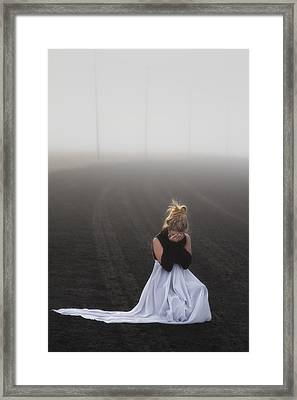 And Tears Shall Drown The Wind Framed Print by Evelina Kremsdorf