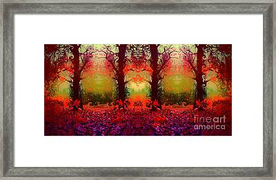 And The Autumn Forest Dances Framed Print by Tara Turner