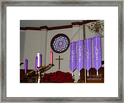 Framed Print featuring the photograph And The Greatest Of These Is......love by Bob Sample