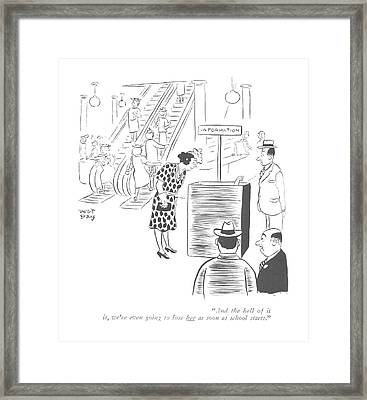 And The Hell Framed Print by Roy Williams