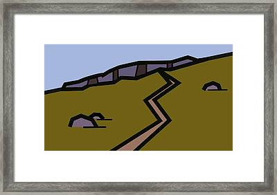And The Path Rises Steeply To The Crag Framed Print by Kenneth North