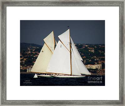 And The Race Begins Framed Print by Lainie Wrightson