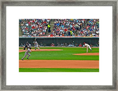 And The Runner Goes Framed Print