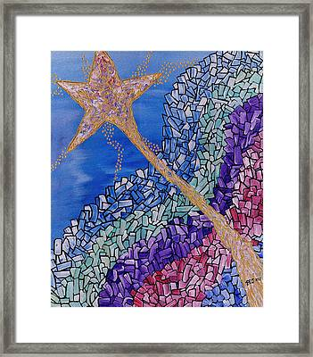 And The Star Said Framed Print by Barbara St Jean