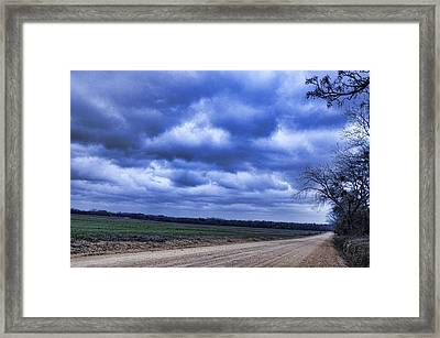 And The Thunder Rolls Framed Print by Jan Amiss Photography