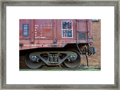 And The Wheels Go Round Framed Print by Skip Willits
