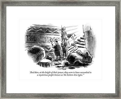 And Then, At The Height Of Their Power, They Seem Framed Print by Lee Lorenz