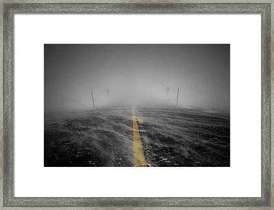 And Then It Got Dark Framed Print