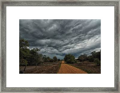 And Then The Rain Came Framed Print