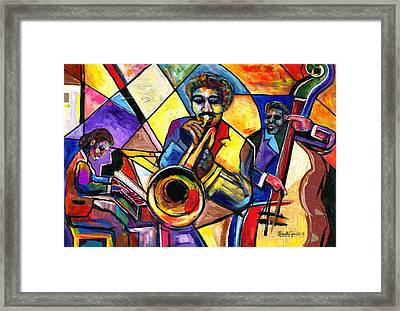 And Then There Was Da Blues Framed Print by Everett Spruill
