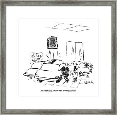 And They Say Electric Cars Aren't Practical Framed Print by Robert Weber