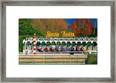 And They're Off At Santa Anita Framed Print