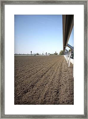 And They're Off Framed Print by CarolLMiller Photography