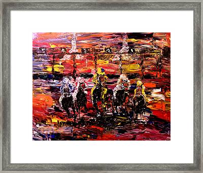 And They're Off   Framed Print