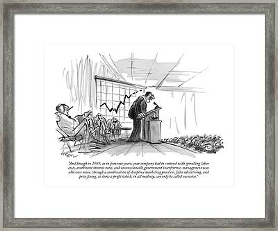 And Though In 1969 Framed Print
