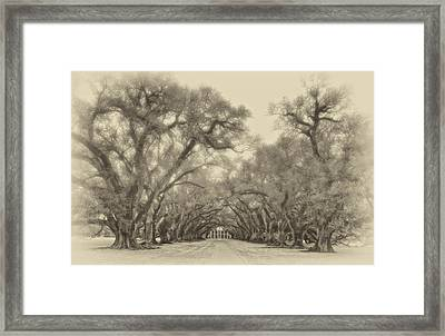 And Time Stood Still Sepia Framed Print
