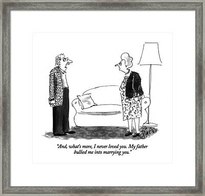 And, What's More, I Never Loved You.  My Father Framed Print by Edward Frascino