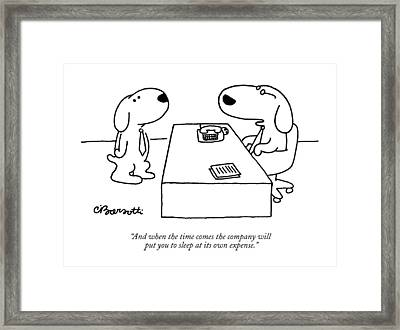 And When The Time Comes The Company Will Put Framed Print by Charles Barsott