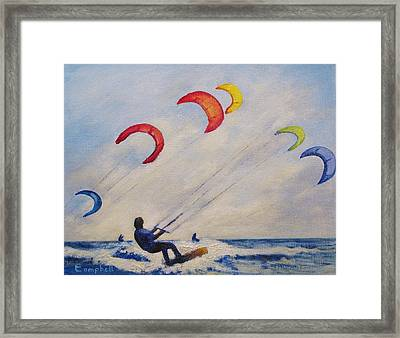 And You'll Take To The Skies Framed Print by Cecelia Campbell