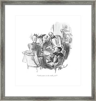 And Yours Is The Milk Framed Print