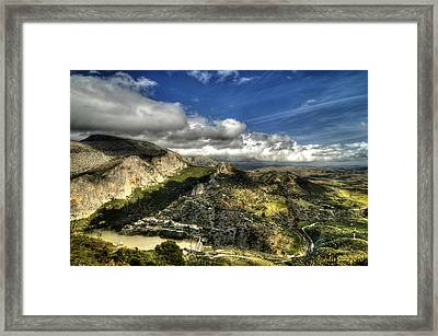 Framed Print featuring the photograph Andalusia - Mountain View by Julis Simo