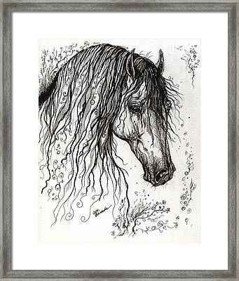 Andalusian Horse Drawing 2 Framed Print