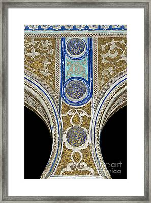 Andalusian Moorish Architectural Element Framed Print by Heiko Koehrer-Wagner