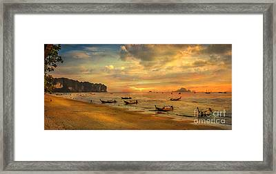 Andaman Sunset Framed Print by Adrian Evans