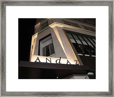 Andaz Framed Print by Dan Sproul