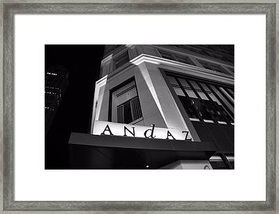 Andaz Hotel On 5th Avenue Framed Print by Dan Sproul