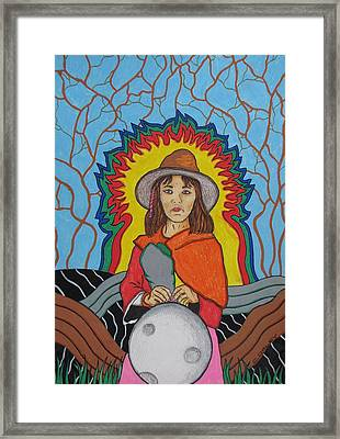 Andean Moonchild Framed Print by Charles  Daley