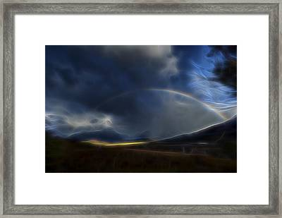 Framed Print featuring the digital art Andean Rainbow by William Horden
