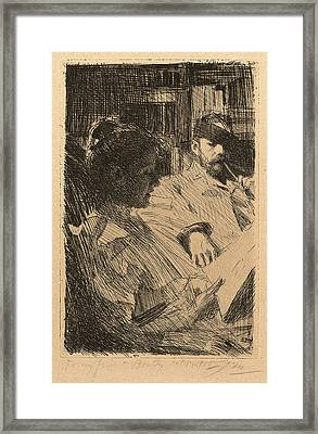Anders Zorn, Reading La Lecture, Swedish Framed Print by Quint Lox