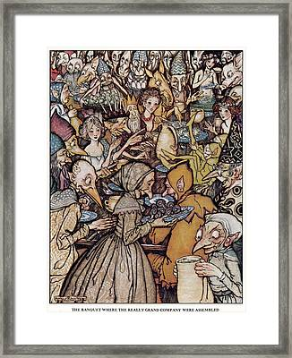 Andersen: Elfin Hill Framed Print by Granger