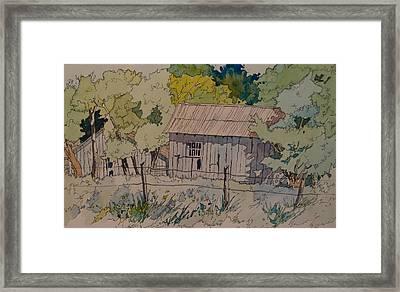 Anderson Barns Framed Print